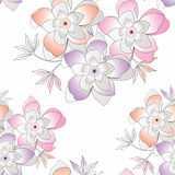 Seamless fancy vector flower background Royalty Free Stock Images