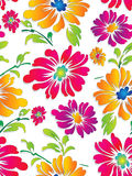 Seamless fancy vector flower wallpaper Royalty Free Stock Photos