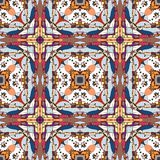 Seamless fantastic pattern. With mechanic ornament Royalty Free Stock Photos