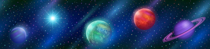 Seamless Fantastic Space Background Royalty Free Stock Image