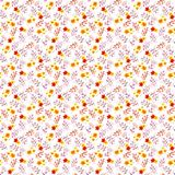 Seamless fantasy floral background - ditsy flowers. Watercolor painted drawing Royalty Free Stock Image