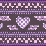 Seamless fantasy pattern with hearts Royalty Free Stock Photos