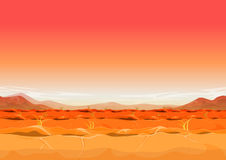 Seamless Far West Desert Landscape For Ui Game Royalty Free Stock Image