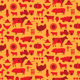Seamless farm pattern. Seamless farm and agriculture vector pattern Royalty Free Stock Photography