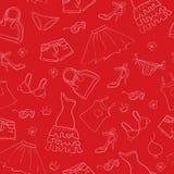 Seamless fashion background. Beauty seamless fashion background royalty free illustration