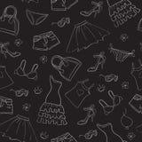 Seamless fashion background Stock Image