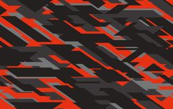 Free Seamless Fashion Dark Gray And Red Hunting Camo Pattern Vector Royalty Free Stock Photography - 144732557