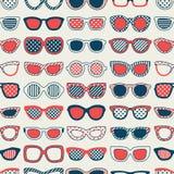 Seamless fashion eyeglasses pattern. Seamless fashion eyeglasses fabric pattern Stock Illustration