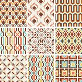 Seamless fashion nostalgic geometric pattern royalty free illustration