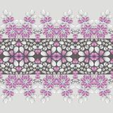 Seamless fashion ornament crystal, pink and silver rhinestones. Royalty Free Stock Photography