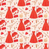 Seamless fashion pattern Stock Photo