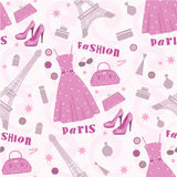Seamless fashion pattern Stock Photos