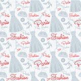 Seamless fashion pattern Stock Photography