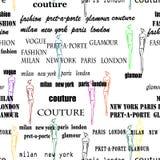 Seamless fashion pattern Royalty Free Stock Image