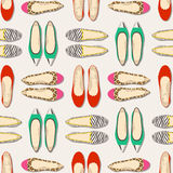 Seamless fashion shoes pattern Royalty Free Stock Photo