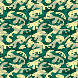Seamless fashion textile camouflage pattern. Hand drawn ink artistic trendy background. Expressive ornament for sport, hunting clothing Royalty Free Stock Photography