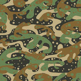 Seamless fashion textile camouflage pattern Stock Images