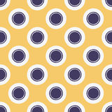 Seamless fashioned circle dots pattern Royalty Free Stock Images