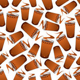 Seamless fast food coffee pattern background Royalty Free Stock Photos