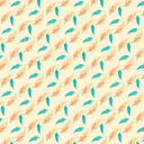 Seamless Feather Pattern Royalty Free Stock Images