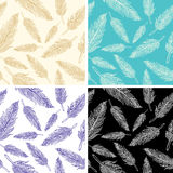 Seamless feather pattern Royalty Free Stock Image