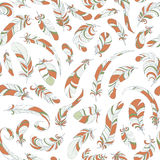 Seamless feather pattern Stock Image