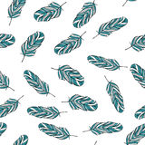 Seamless feather pattern. On the white background Stock Photography