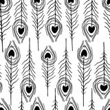Seamless feather patterns Royalty Free Stock Photography