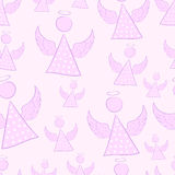 Seamless female angels Royalty Free Stock Images