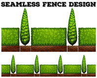 Seamless fence with bushes Immagine Stock