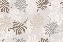 Seamless with fern. Floral ornament with leaves of fern. Seamless pattern Royalty Free Stock Photo