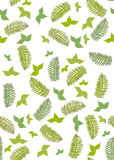 Seamless ferns and leaves  Stock Photo