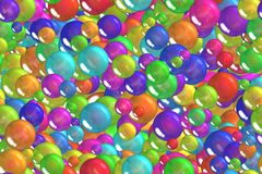 Seamless festival light blue toy bubbles mix wrapping pattern Royalty Free Stock Photos