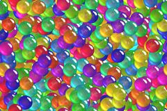 Seamless festival red toy balls celebratory wrapping paper Royalty Free Stock Photos