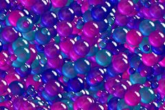 Seamless festival violet berry bubbles celebratory design Royalty Free Stock Photo