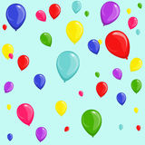 Seamless festive background from balloons. Seamless festive background of colorful multicolored balloons Royalty Free Stock Image
