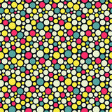 Seamless festive background from circles.  Vector Royalty Free Stock Photo