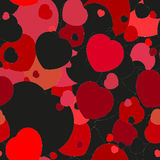 Seamless festive background with hearts. Seamless festive background with black and red hearts Stock Photography
