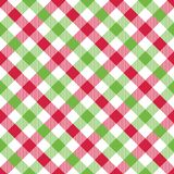Seamless festive Christmas gingham wrapping paper pattern. stock illustration