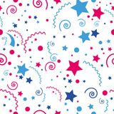 Seamless festive colored pattern elements and stars. Vector seamless festive colored pattern elements and stars Royalty Free Stock Images