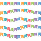 Seamless Festive Flags. Set on white background Royalty Free Stock Images