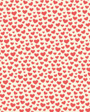 Seamless Festive Love Abstract Pattern with Hearts on White Stock Images