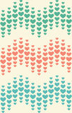 Seamless Festive Love Abstract Pattern with Hearts on White Royalty Free Stock Photo