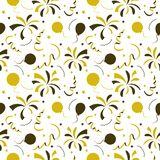 Seamless festive pattern confetti and fireworks. Vector seamless festive pattern confetti and fireworks Royalty Free Stock Images