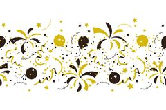 Seamless festive pattern confetti and fireworks. Vector seamless festive pattern confetti and fireworks Stock Photos