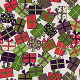 Seamless festive pattern with gifts. Birthday, holiday. Vector i. Llustration Stock Photography