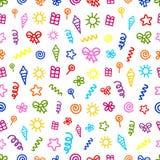 Seamless festive pattern Royalty Free Stock Image