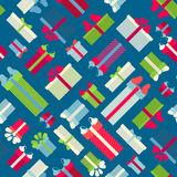 Seamless festive pattern. Various gift boxes backgrouns for your design Royalty Free Stock Image
