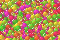 Seamless festive pink spheres geometry wrapping pattern Stock Images