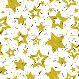 Seamless festive star pattern, golden color. Vector seamless festive star pattern, golden color Royalty Free Stock Image